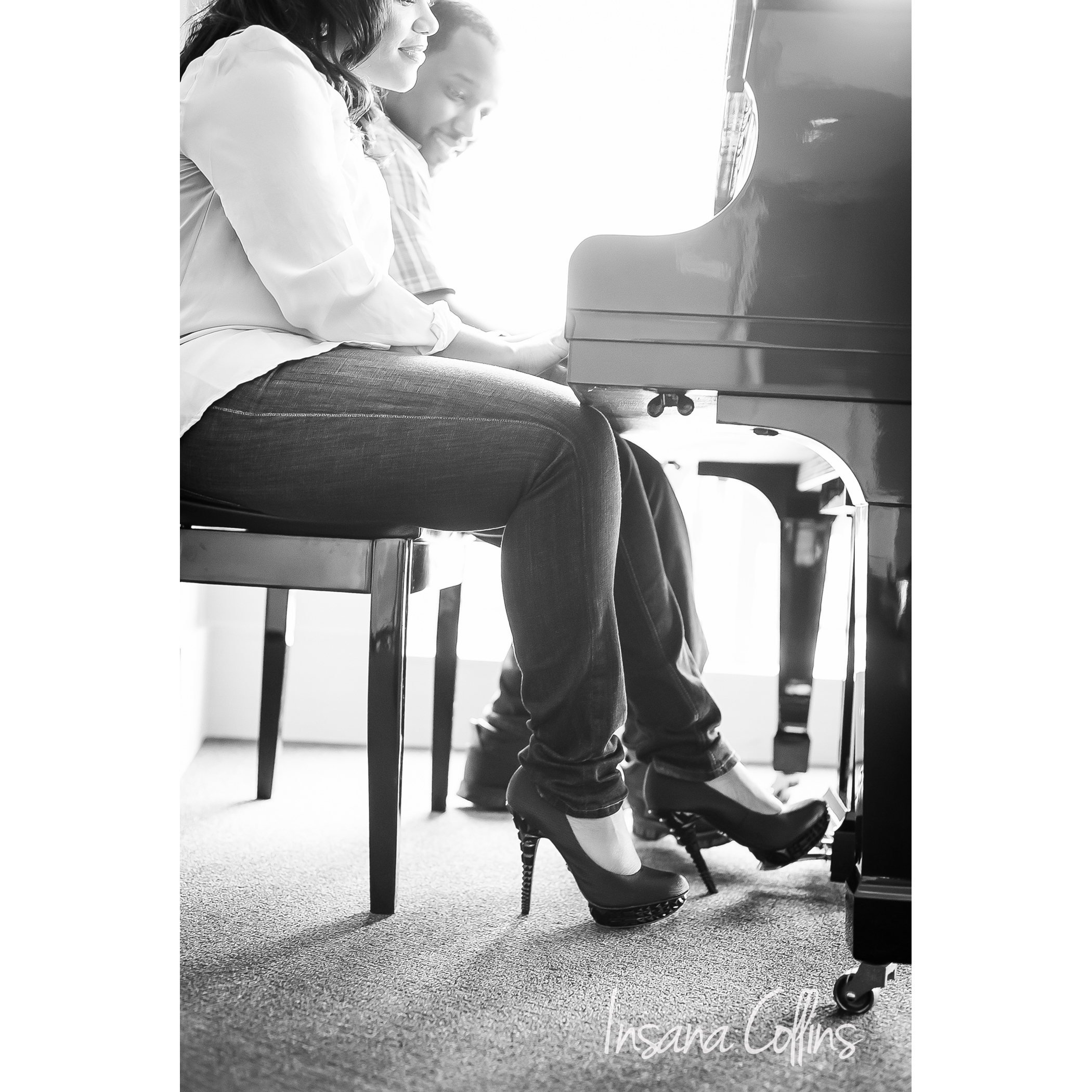 Deanne and Mike shoes bw